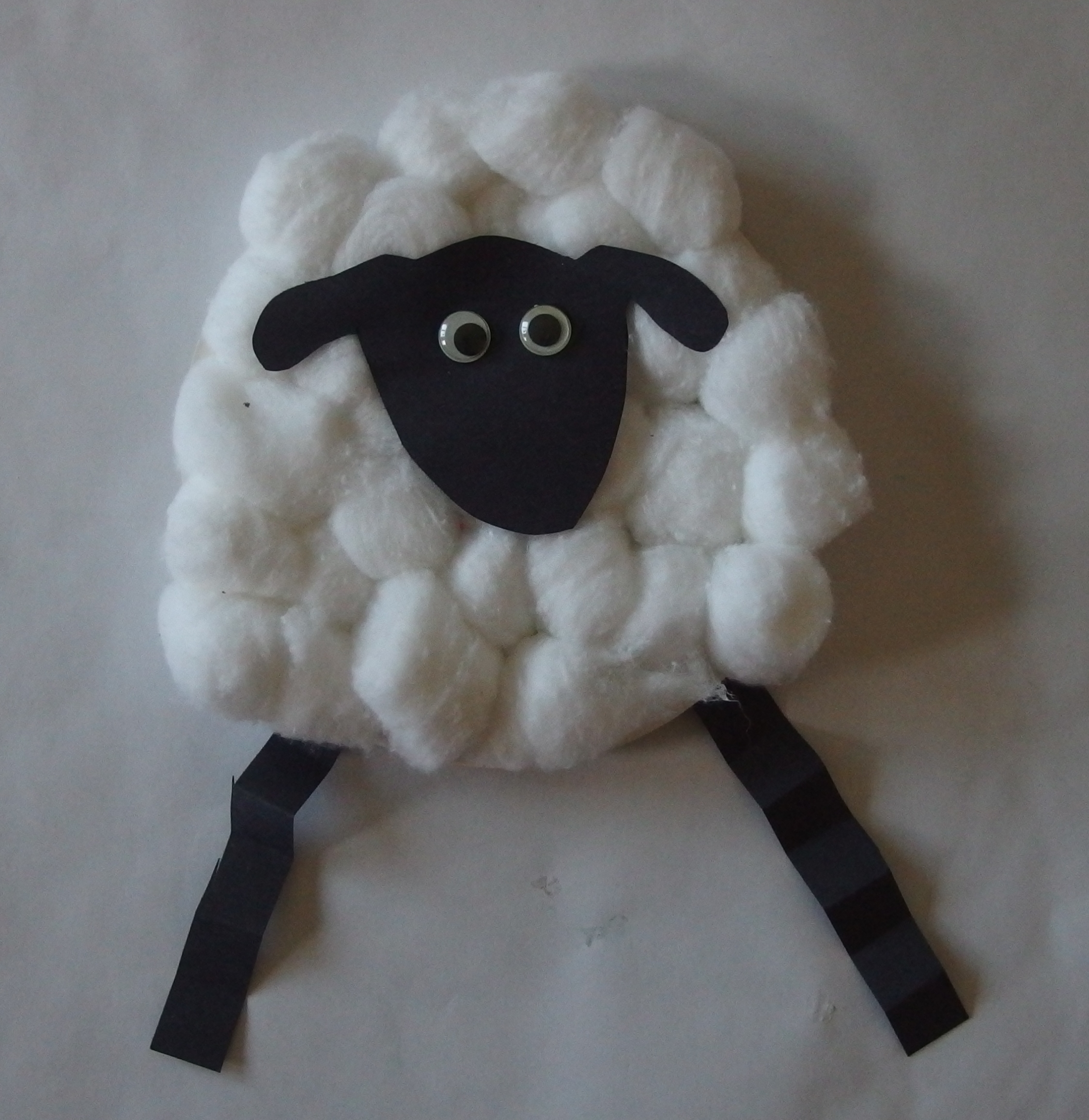 Storytime stories knees and the land of cheese for Cardboard sheep template